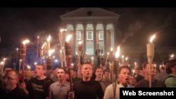 Manifestación de supremacistas blancos en Charlotteville, Va.