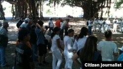 Reporta Cuba 30 activistas junto a Damas de Blanco Foto Angel Moya