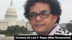 Luis Felipe Rojas, poeta y periodista de Radio Televisión Martí, durante una cobertura en Washington D.C. (Archivo)