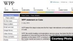 WPP anuncia acuerdo con Cuba.