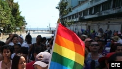 Bandera de la comunidad LGTBI.