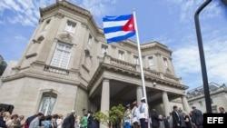 Reapertura de la Embajada de Cuba en Washington, el 20 de julio de 2015.