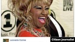 Imagen de Celia Cruz publicada en Facebook por Leovanis Correa.