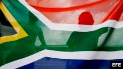 Bandera nacional de Sudáfrica.