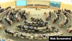 Sesión plenaria del Consejo de Derechos Humanos de Naciones Unidas.