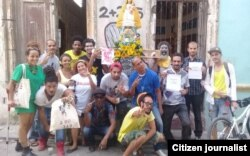En el Día de la Virgen de la Caridad, patrona de Cuba, artistas cubanos se manifiestan contra el decreto-ley 349 (Foto: Archivo).