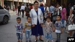 Mujer de la minoría étnica uigures en China.