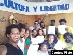 Artistas cubanos opuestos al Decreto 349 (Facebook).