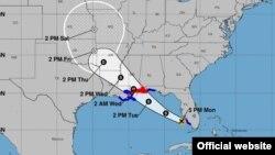 Pronóstico de trayectoria de la tormenta tropical Gordon. (NHC)