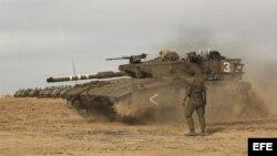 Tanque israelí.