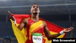 El vallista hispano-cubano Orlando Ortega, ganador de medalla de plata en los Juegos Olímpicos de Rio-2016.