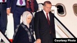 Llegada de Erdogan a La Habana.