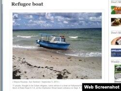 Una foto de la embarcación publicada por el Sun Sentinel