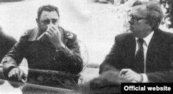 Fidel Castro y Bernardo Benes en La Habana. Tomado de latinamericanstudies.org