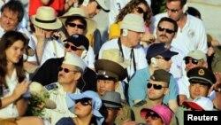 Invitados extranjeros al desfile del 1ro de Mayo.