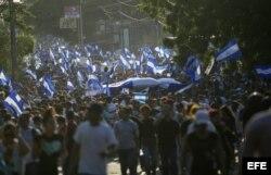 Miles demuestran su hartazgo contra el Gobierno de Daniel Ortega en Nicaragua.