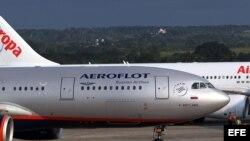 El vuelo de Aeroflot que viaja cada jueves a La Habana.