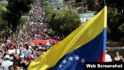 Marchas opositores Venezuela