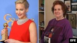 """Jennifer Lawrence interpretará a la amante de Fidel Castro Marita Lorenz (derecha), en el filme """"Marita""""."""
