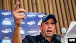 El líder de la oposición venezolana y gobernador del estado Miranda, Henrique Capriles. Foto de archivo