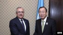 KUWAIT. Reunión del presidente libanés, Michel Suleiman, con el secretario general de la ONU, Ban ki-Moon, durante la Conferencia de Donantes