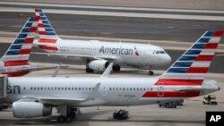 Aviones de American Airlines en el Aeropuerto Internacional Sky Harbor, en Phoenix, Arizona, en julio del 2019.