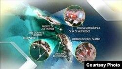 Algunos detalles de las construcciones ordenadas por Fidel Castro en Cayo Piedra, su paraíso particular.(Luis Domínguez)