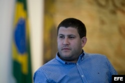 El exalcalde venezolano David Smolansky cuando huyó a Brasil. (Archivo)