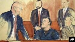 """Jesús Reynaldo Zambada, del Cartel de Sinaloa, testifica en juicio contra Joaquín """"El Chapo"""" Guzmán."""