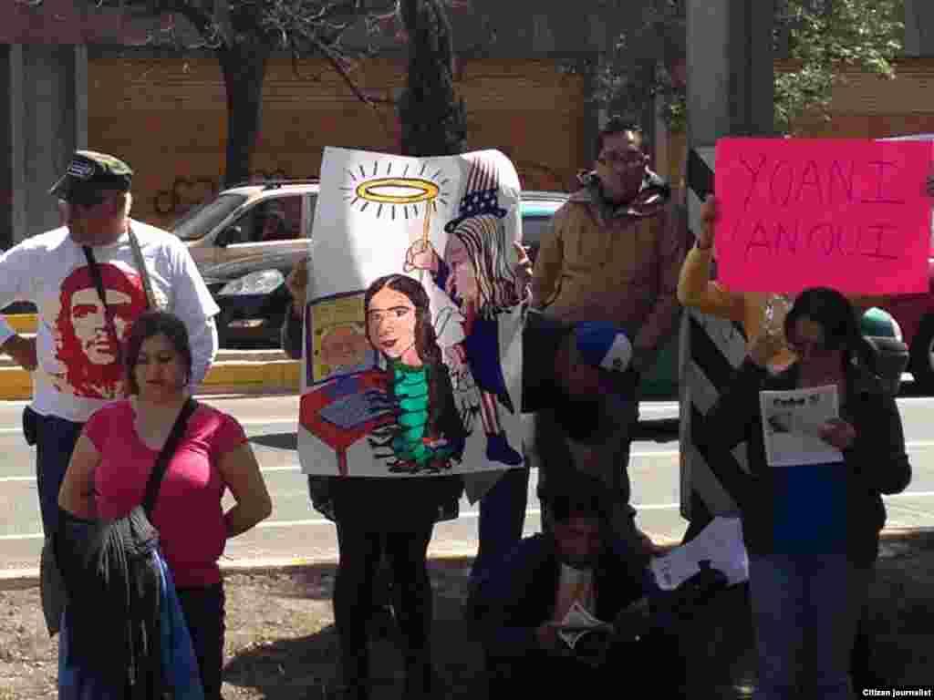 Protestas afuera de la SIP, Puebla, México