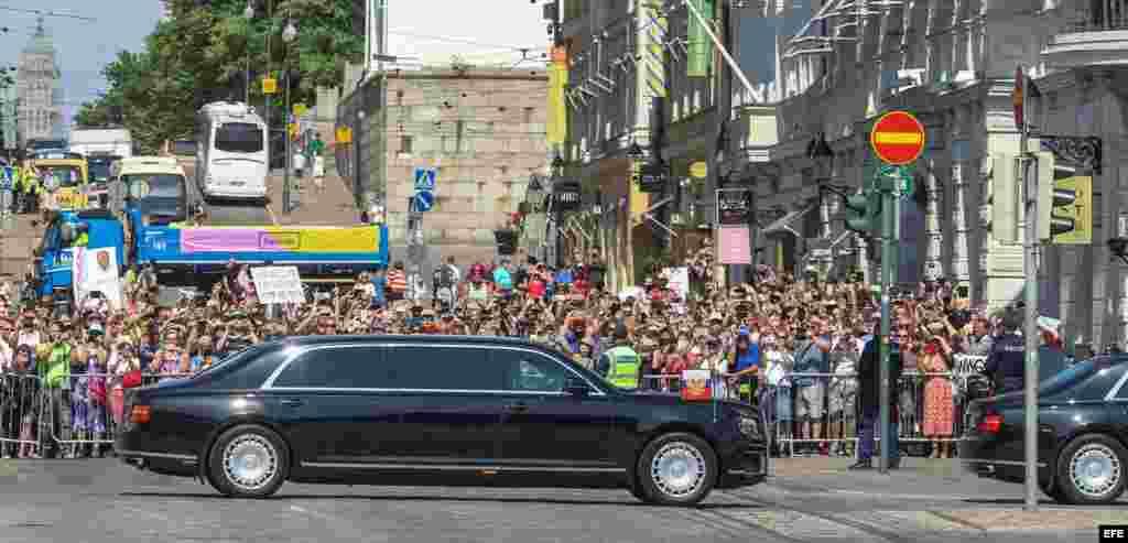 Putin llega al Palacio Presidencial de Helsinki para su cumbre
