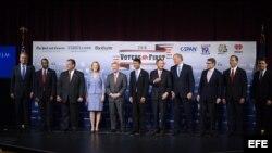 Los candidatos republicanos a la Presidencia de EEUU. Archivo.