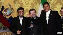 Ahmadinejad durante visita a Ecuador