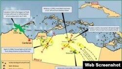 El bloque 9, uno de los 59 de Cuba para la búsqueda de petróleo, se encuentra entre las zonas productoras de Varadero y Motembo.