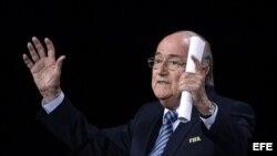 Joseph Blatter, presidente de la Federación Internacional de Fútbol (FIFA).