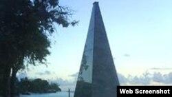 Monumento al avión de Cubana de Aviación, en Barbados.