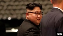 El líder norcoreano, Kim Jong Un, durante la cumbre de Singapur.