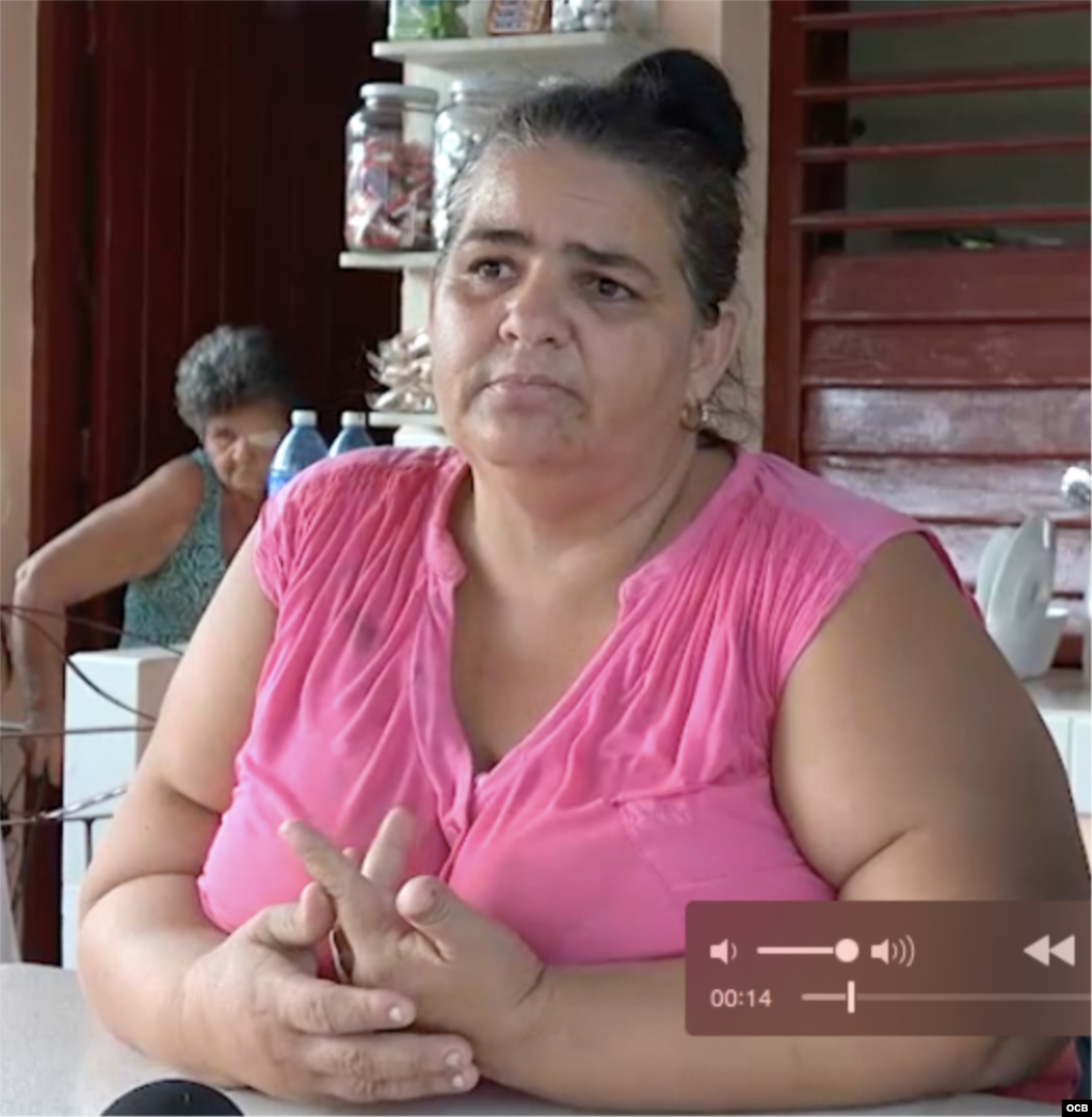 Olga Lidia Alemán Aguila, vecina del barrio de Santa Clara donde creció José Fernández.