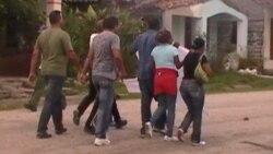 Manifestación pública en Placetas en apoyo a Calixto R. Martínez