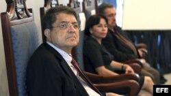 Sergio Ramírez en la presentación de su libro