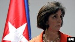 Roberta Jacobson, al concluir una reunión sobre el restablecimiento de relaciones diplomáticas entre Cuba y EEUU en el pasado mes de enero.