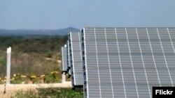 Planta de energía solar. Foto: Otávio Nogueira.