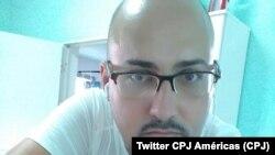Orelvys Cabrera, reportero de Cubanet (Imagen del Twitter de CPJ Américas).