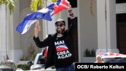 Caravana por la Libertad y la Democracia en Cuba organizada por Otaola en febrero pasado. (Foto: Roberto Koltun)