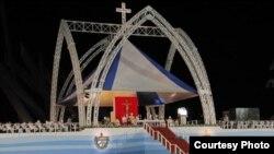 El altar donde celebró misa Benedicto XVI será el punto de partida de un nuevo templo en Santiago de Cuba.