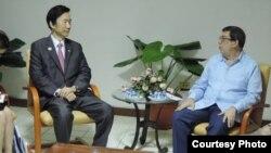 Reunión de los cancilleres de Corea del Sur y Cuba, en La Habana.