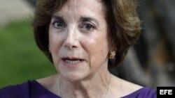 La excongresita de Estados Unidos Marjorie Margolies, en una conferencia de prensa en La Habana. EFE