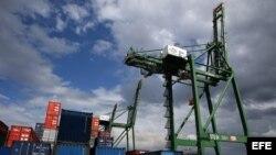 Detalle de la terminal de contenedores de la Zona Especial de Desarrollo del Mariel.