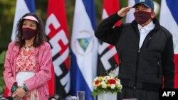 Daniel Ortega y Rosario Murrillo, presidente y vicepresidenta de Nicaragua