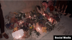 Homenaje a las tres niñas fallecidas en La Habana. (Foto de Twitter @ultrackdj)